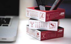 creative calendar pen pot