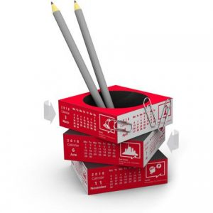 creative calendar pen pot